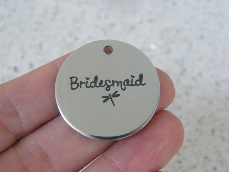1 Bridesmaid stainless steel pendant JS1-22