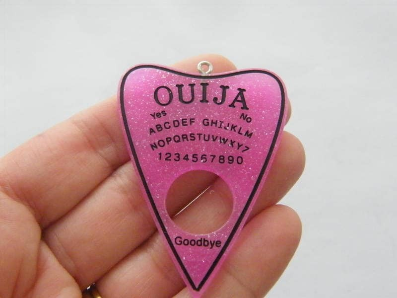 1 Ouija board pendant pink resin  charm HC213