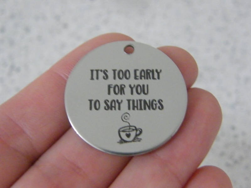 1 It's too early for you to say things stainless steel pendant JS3-38