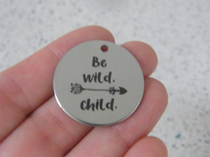 1 Be wild. child. stainless steel pendant JS3-24