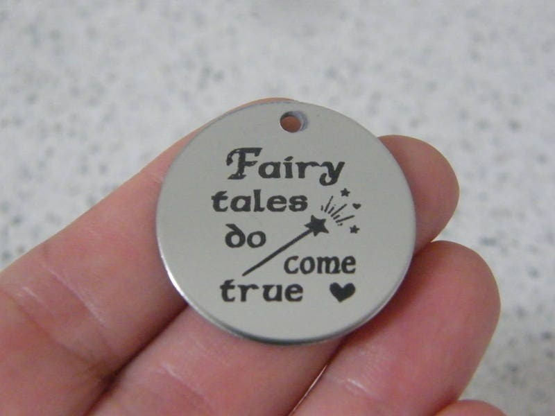 1 Fairy tales do come true stainless steel pendant JS2-27