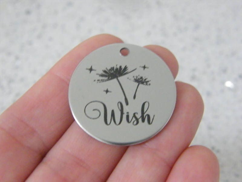 1 Wish stainless steel pendant JS4-4
