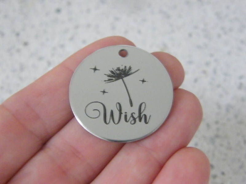 1 Wish stainless steel pendant JS4-35