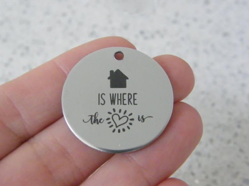 1 Home is where the heart is stainless steel pendant JS4-47