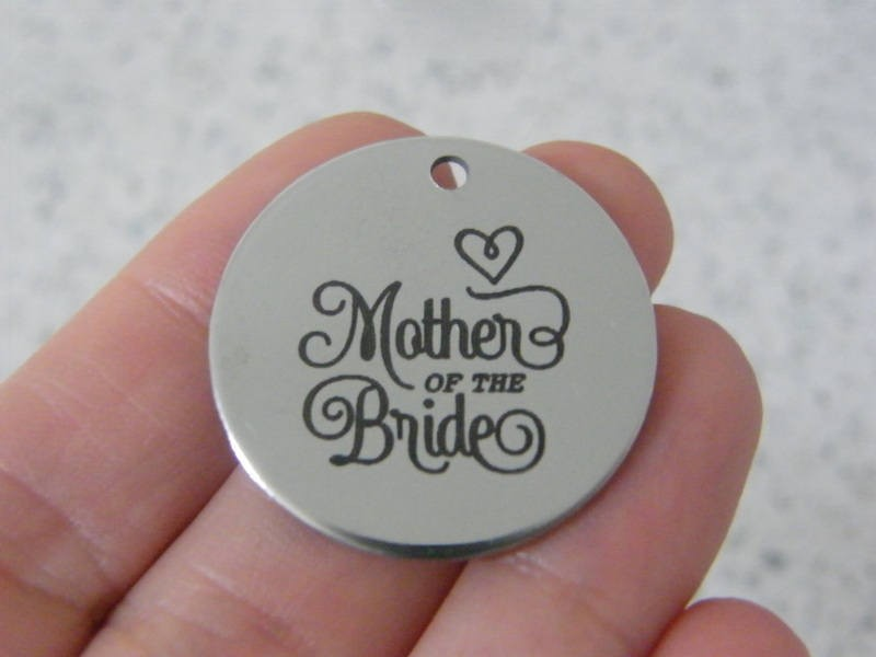 1 Mother of the bride stainless steel pendant JS5-10