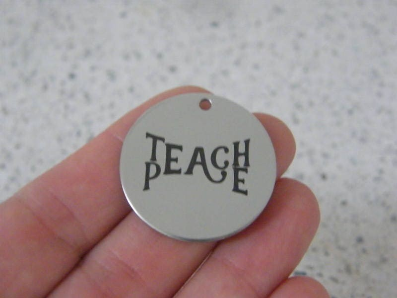 1 Teach Peace stainless steel pendant JS3-47