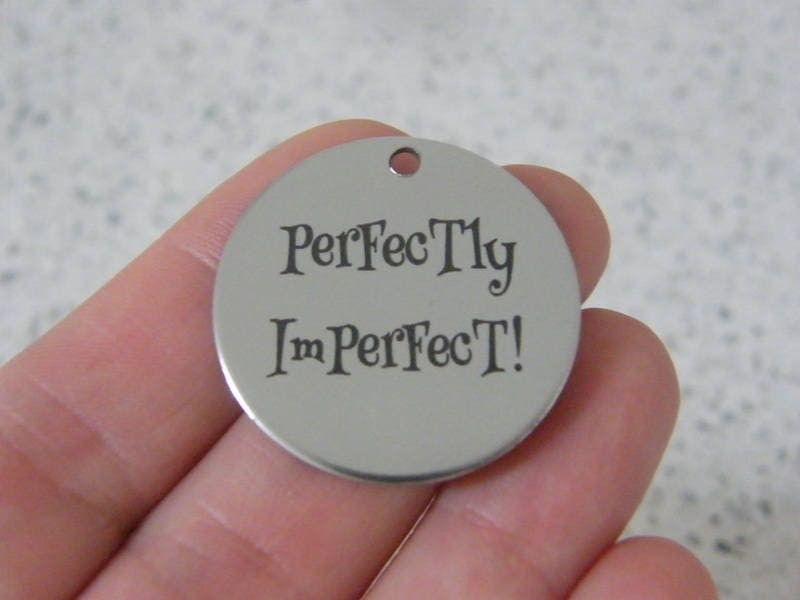 1 Perfectly imperfect ! stainless steel pendant JS3-41