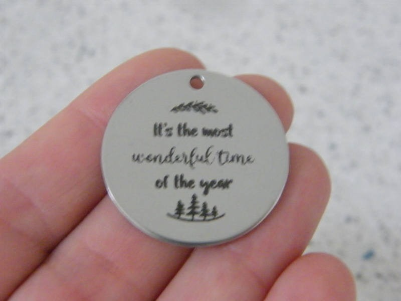 1 It's the most wonderful time of the year stainless steel pendant JS3-37