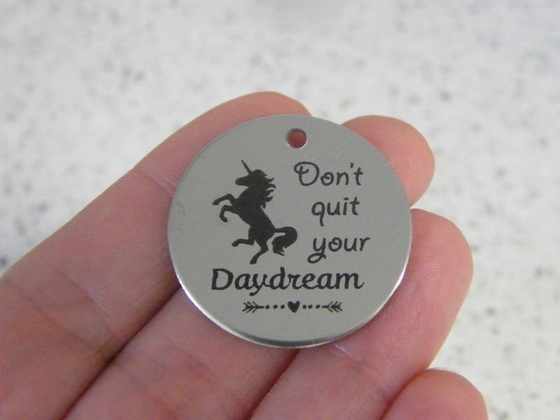 1 Don't quit your daydream stainless steel pendant JS4-15