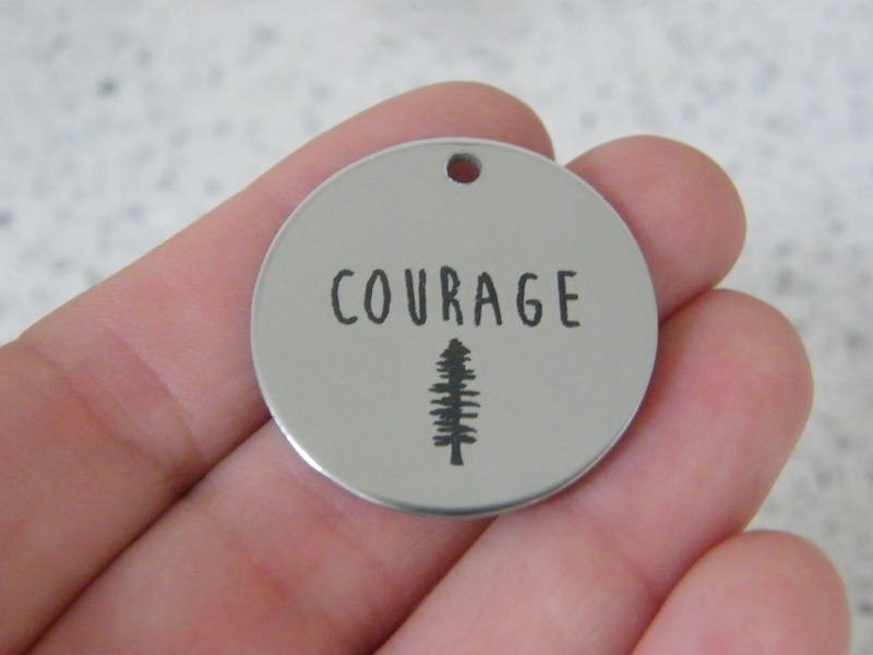 1 Courage stainless steel pendant JS5-34