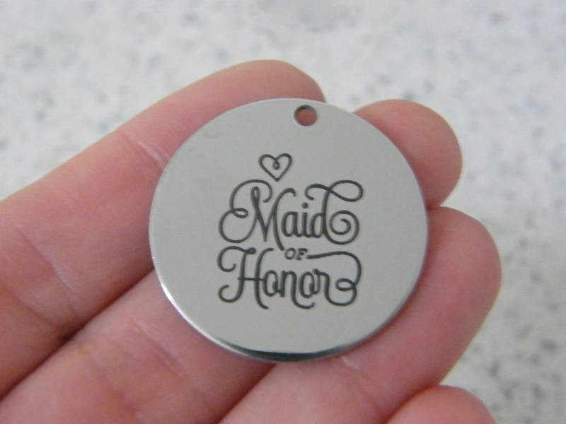 1 Maid of honor stainless steel pendant JS5-8