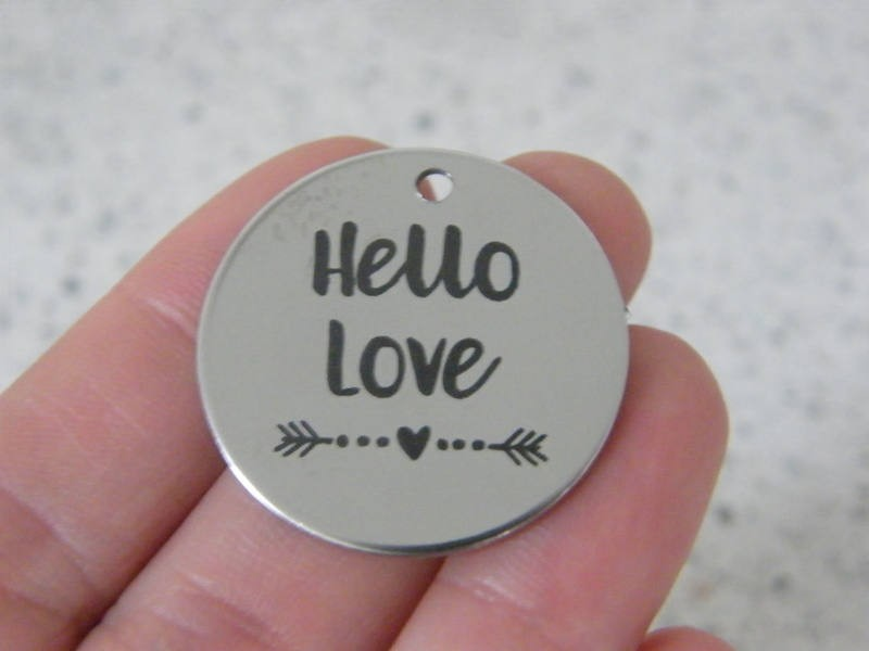 1 Hello love stainless steel pendant JS5-24