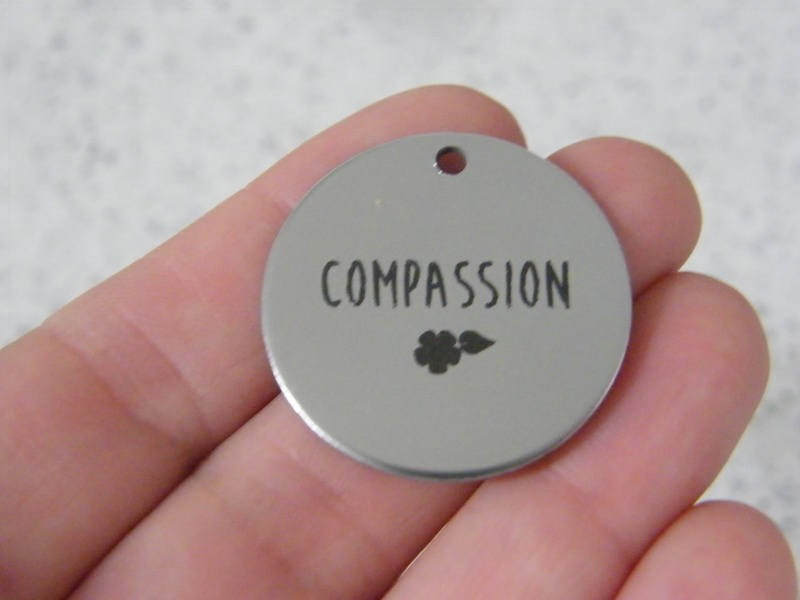 1 Compassion stainless steel pendant JS5-42