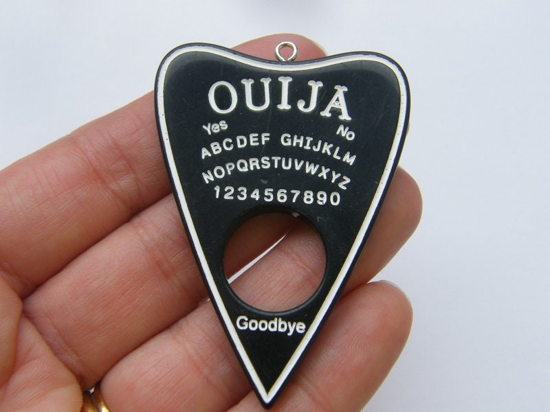 1 Ouija board pendant black resin  charm HC242