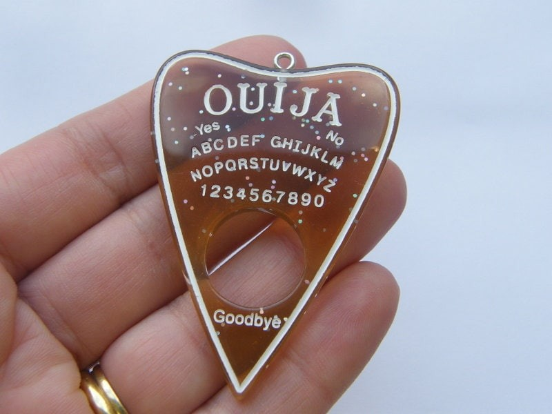 1 Ouija board pendant brown resin  charm HC244