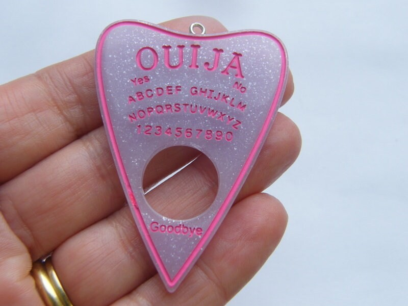 1 Ouija board pendant pink lilac resin  charm HC250