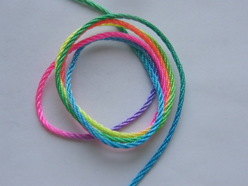 2 Meter multi colour  nylon thread FS492