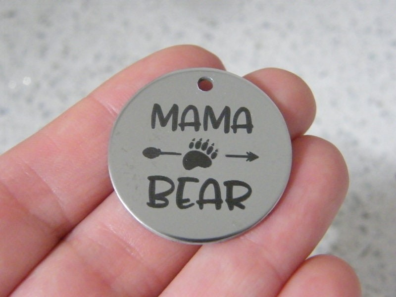 1 Mama Bear stainless steel pendant JS6-32