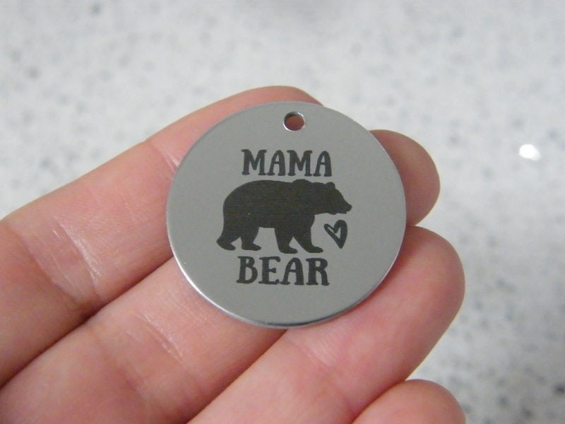 1 Mama Bear stainless steel pendant JS6-33