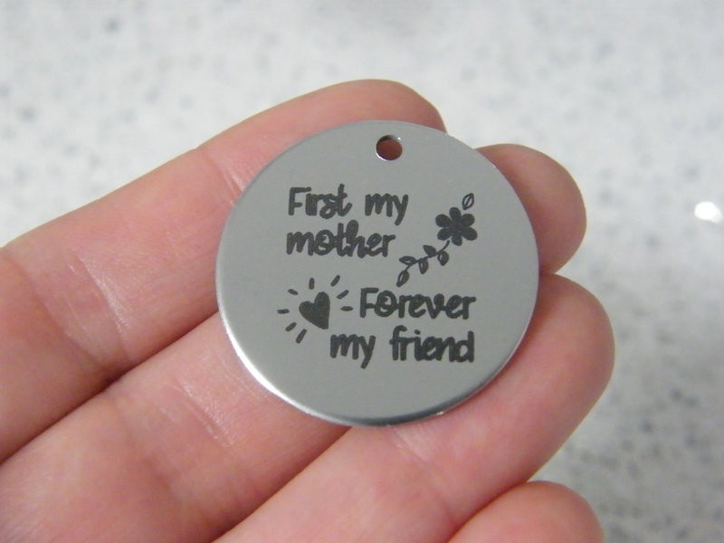 1 First my mother Forever my friend stainless steel pendant JS6-28
