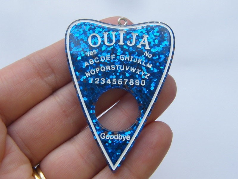 1 Ouija board pendant blue resin  charm HC245