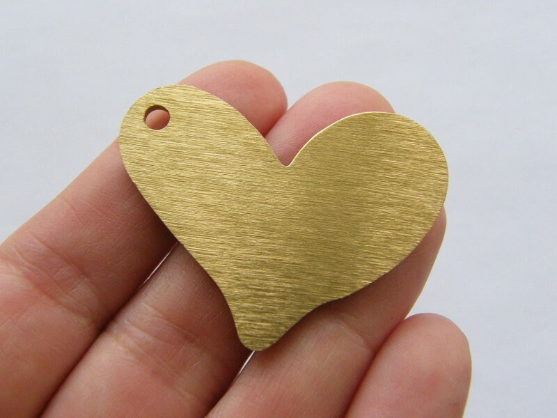 1 Heart pendant gold tone GC146