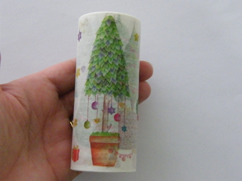 1 Roll Christmas tree washi tape 10cm wide 5 meter long
