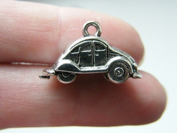4 Car vehicle charms antique silver tone TT21