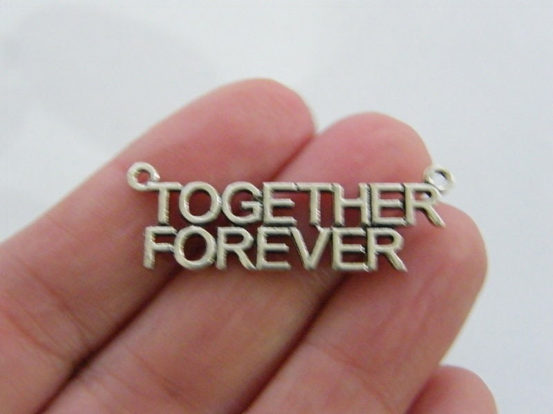 4 Together Forever connector charms silver tone M182