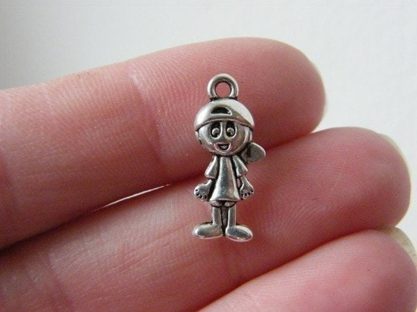 BULK 50 Boy charms antique silver tone P88