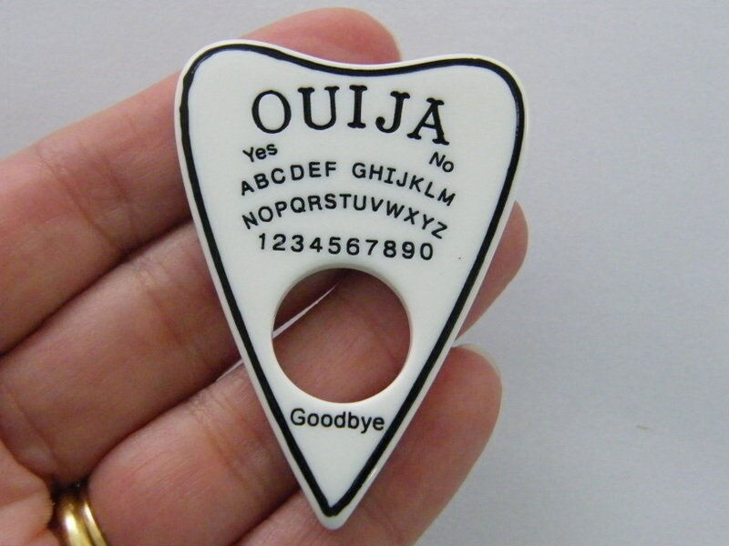 1 Ouija board embellishment white and black HC309