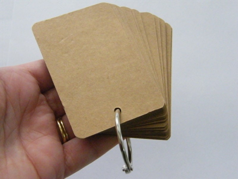 1 Craft paper brown note pad pendant ST2