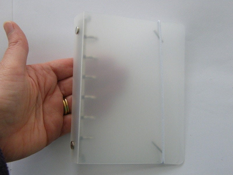 1 File binder folder refill planner clear 15 x 10.2cm 6 hole Size A7
