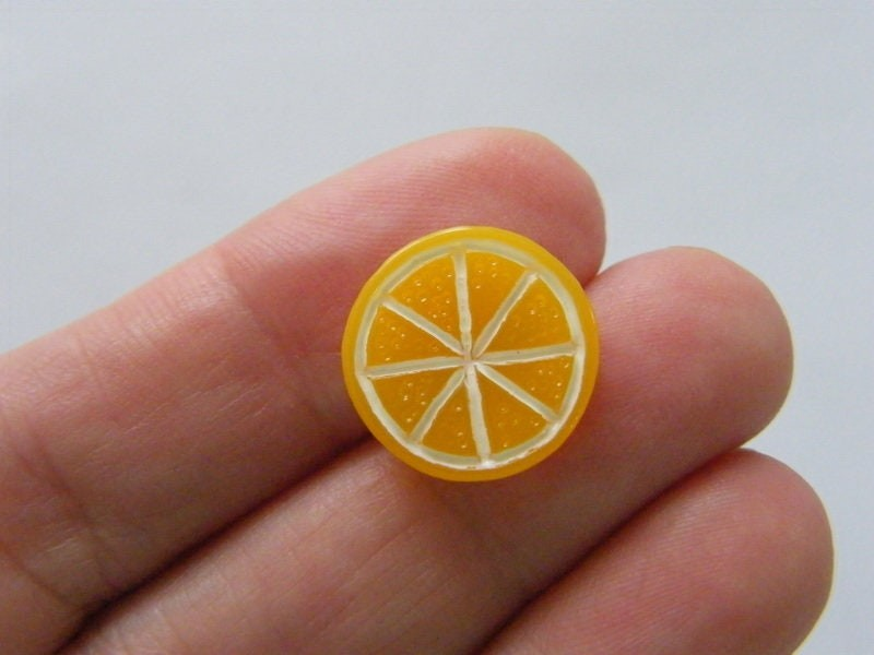 BULK 50 Orange slice embellishments cabochon FD443