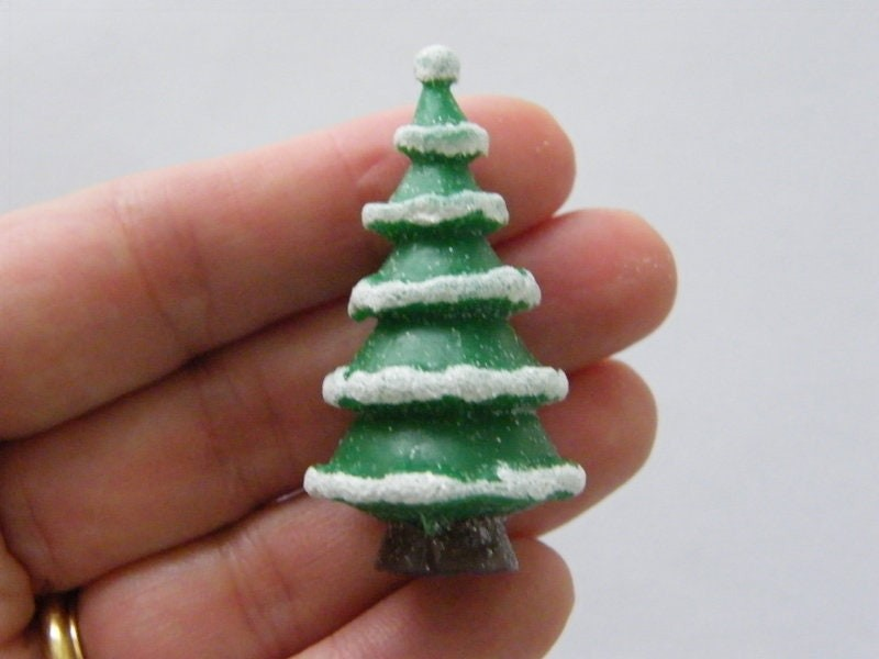 1 Christmas tree embellishment resin CT227