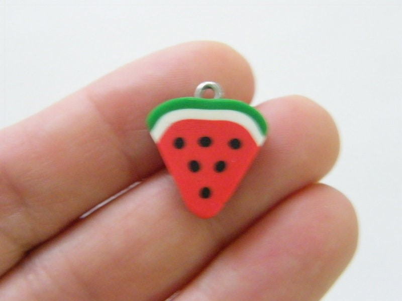12 Watermelon charms polymer clay FD462