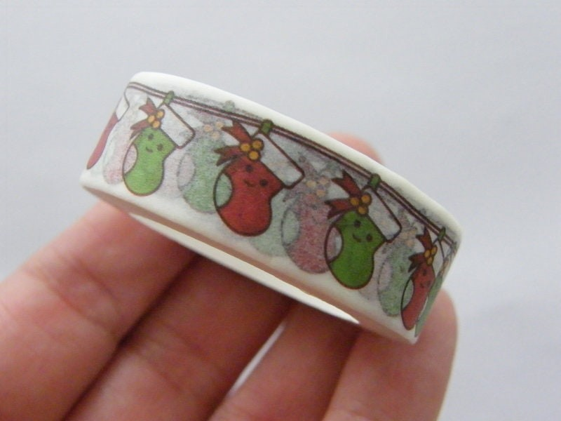 1 Roll Christmas stocking washi tape ST