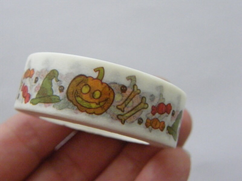 1 Roll Halloween pumpkin washi tape ST