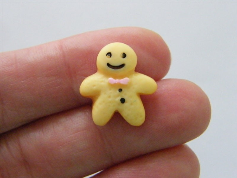 8 Gingerbread man embellishment cabochon resin CT71