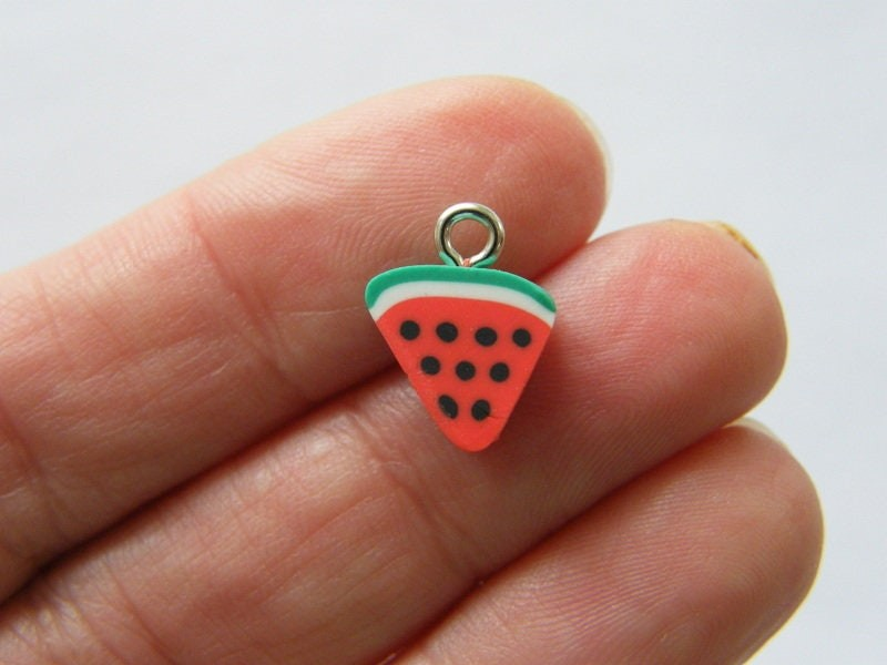 14 Watermelon charms polymer clay FD455