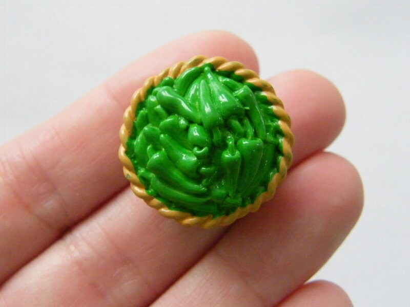 2 Vegetable basket embellishment miniature resin FD472
