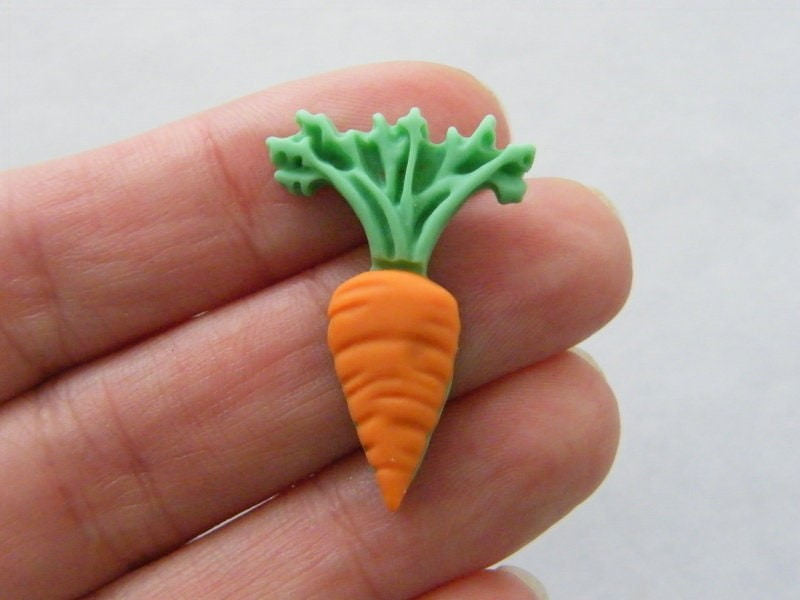 10 Carrot embellishment cabochons resin FD360