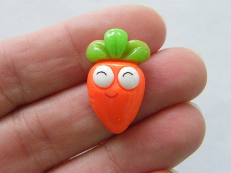 6 Carrot face embellishment cabochons resin FD520