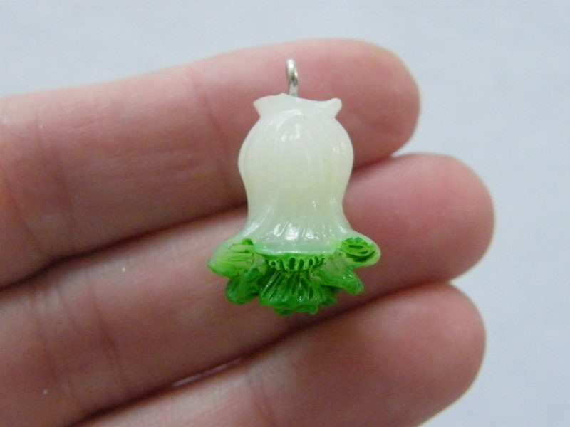 4 Cabbage vegetable pendants resin FD556