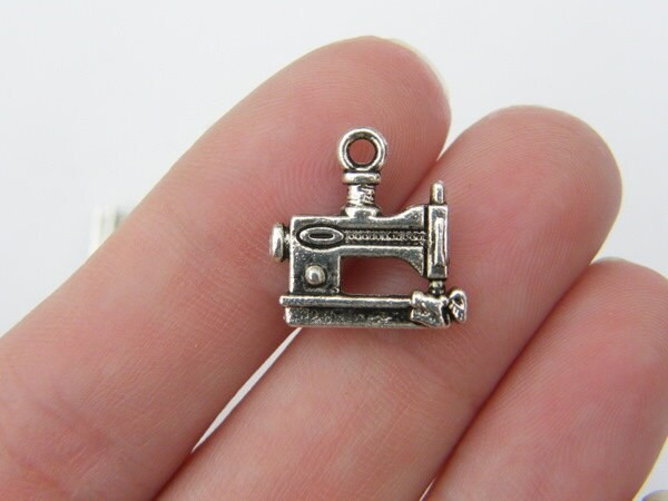 10 Sewing machine  charms tibetan silver P525