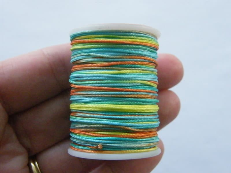 7 Meter mixed colours polyester braided cord string nylon string 0.7mm thick  FS7
