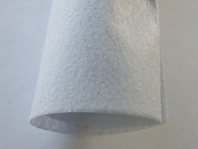 4 White grey sheets square felt 30 x 30cm