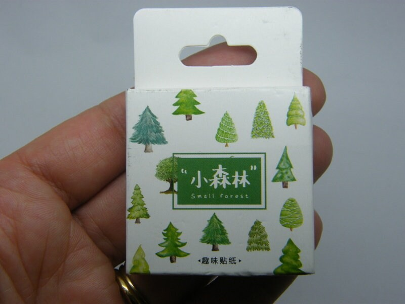 1 Box 56 assorted Tree stickers STwhitebox