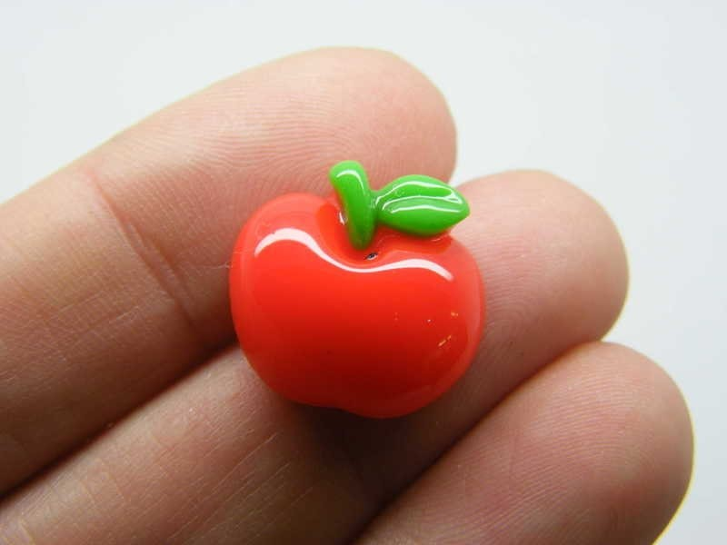 BULK 50 Apple fruit embellishment cabochons resin FD664