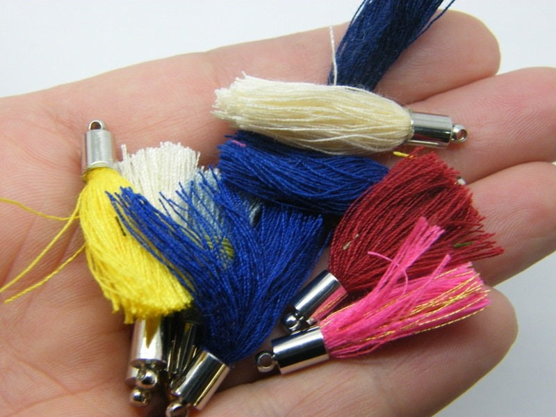 10 Tassel charms RANDOM mixed FS157